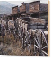 The Town Of Cody Wyoming Wood Print