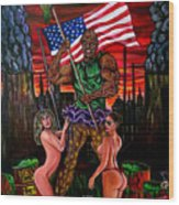 The Toxic Avenger Wood Print