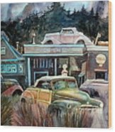 The Trading Post Wood Print