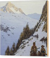 The Trail Over The Pass, 1910 Wood Print