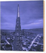 The Transamerica Pyramid At Sunset Wood Print