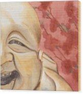 The Travelling Buddha Statue Wood Print