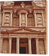 The Treasury at Petra Wood Print