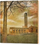 The Tree And The Bell Tower Wood Print
