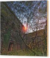 The Tree In The Fort - L'albero Tra Le Mura Del Forte Wood Print