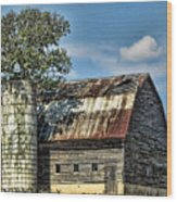The Tree Silo Wood Print