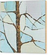 The Tree Sky Song Wood Print
