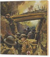 The Trenches Wood Print
