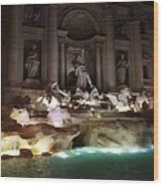 The Trevi Fountain In Rome Wood Print