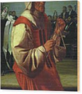 The Triangle Player Wood Print