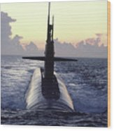 The Trident Nuclear Submarine, Ohio Wood Print by Michael Melford