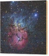 The Trifid Nebula Wood Print