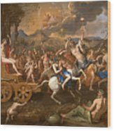 The Triumph Of Bacchus Wood Print
