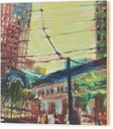 The Trolley Line Wood Print