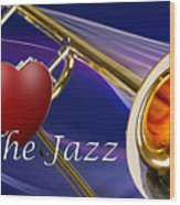 The Trombone Jazz 001 Wood Print