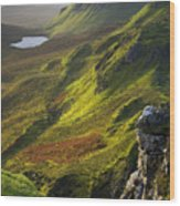 The Trotternish Hills From The Quiraing Isle Of Skye Wood Print