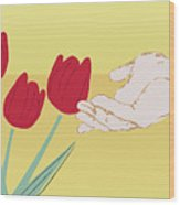 The Tulips Wood Print