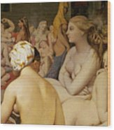 The Turkish Bath Wood Print by Ingres