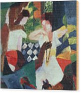 The Turkish Jeweller  Wood Print by August Macke