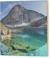 The Turquoise Lake Wood Print