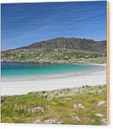 The Turquoise Water Of Dogs Bay Roundstone Ireland Wood Print