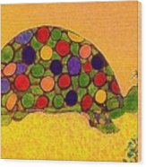 The Turtle In Lighter Colors Wood Print