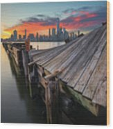 The Twisted Pier Wood Print