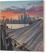 The Twisted Pier Panorama Wood Print