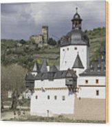 The Two Castles Of Kaub Germany Wood Print