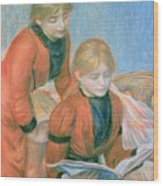 The Two Sisters Wood Print by Pierre Auguste Renoir