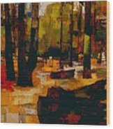 The Underground To Epping Forest - London Underground, London Metro - Retro Travel Poster Wood Print