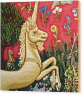 The Unicorn Wood Print