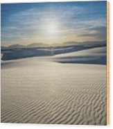 The Unique And Beautiful White Sands National Monument In New Me Wood Print
