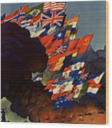 The United Nations Fight For Freedom Wood Print