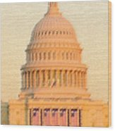 The United States Capitol Wood Print