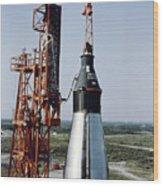 The Unmanned Mercury-atlas Capsule Sits Wood Print
