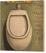 The Urinal Wood Print by Leah Saulnier The Painting Maniac