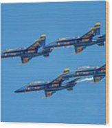 The Usn Blue Angels Wood Print