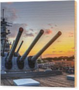 The Uss Missouri's Last Days Wood Print
