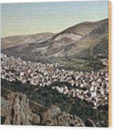 The Vale Of Nablus Wood Print