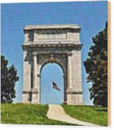 The Valley Forge Arch Wood Print