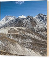 The Valley Leading To Mt Everest In Nepal Wood Print