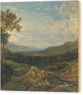 The Valley Of The Clyde Wood Print