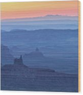 The Valley Of The Gods Wood Print