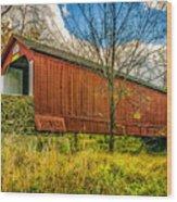 The Van Sant Covered Bridge Wood Print