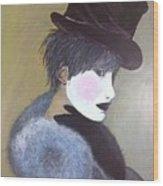 The Velvet Hat Wood Print