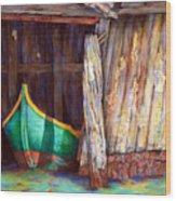 The Venetian Boathouse Wood Print