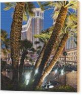 The Venetian Hotel And Casino Las Vegas Wood Print
