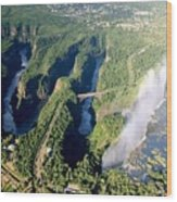 The Vic Falls Gorge Wood Print