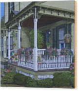 The Victorian Porch Wood Print